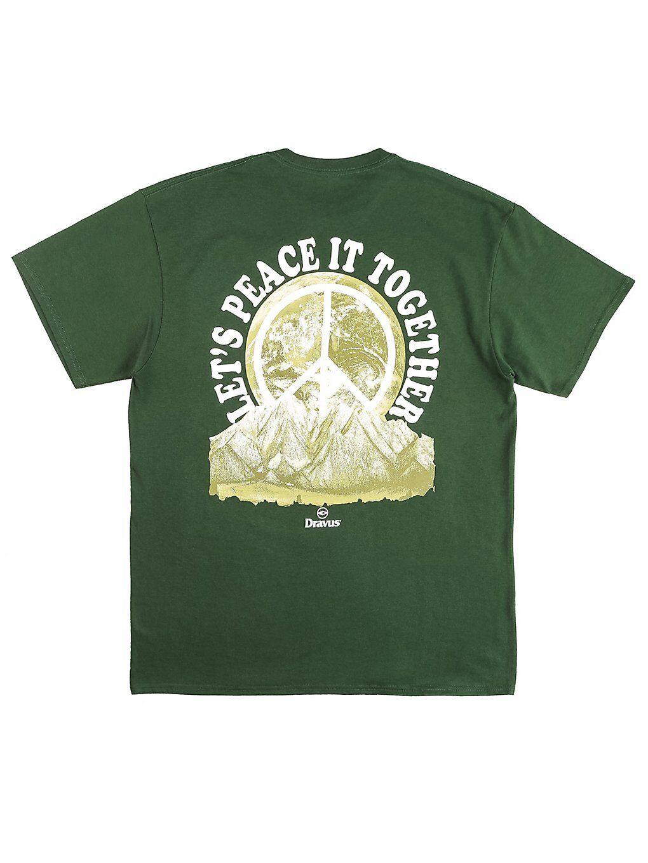 Dravus Peace it T-Shirt vihreä  - dark green