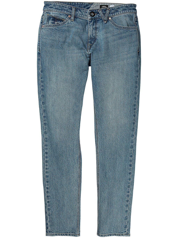 Volcom Vorta Tapered Jeans sininen  - vmi/vintage marboled ind