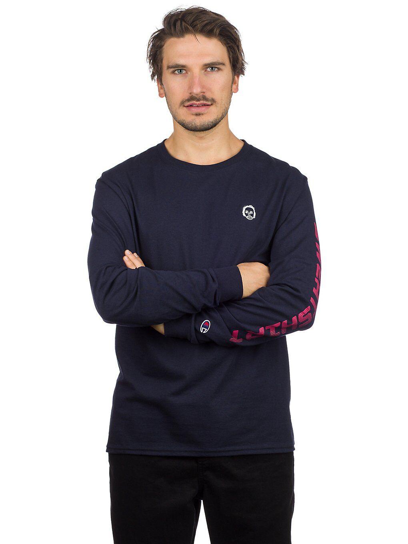 Earl Sweatshirt Premium Long Sleeve T-Shirt sininen  - navy/white/red