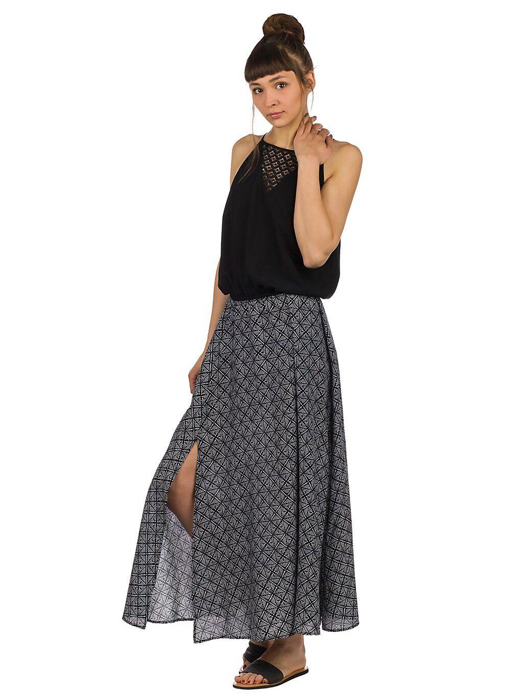 Image of Rip Curl Coast Infusion Maxi Dress musta
