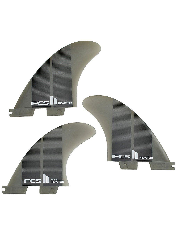 FCS II Reactor Neo Glass Medium Tri Fin harmaa  - charcoal gradient
