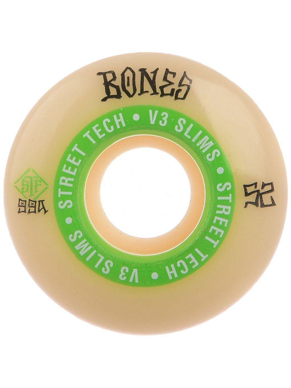 Bones Wheels STF Ninety Nines 99A V3 Slims 52mm Wheels valkoinen