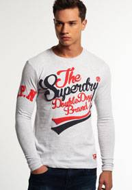Superdry Pitkähihainen Double Drop Brand -t-paita