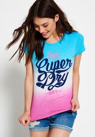 Superdry Osaka Brand Dip Dye -T-paita
