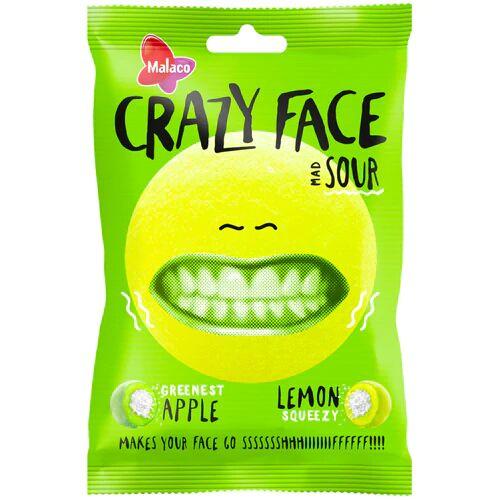 Maxikarkki Makeispussit Malaco Crazy face Sour (80g)