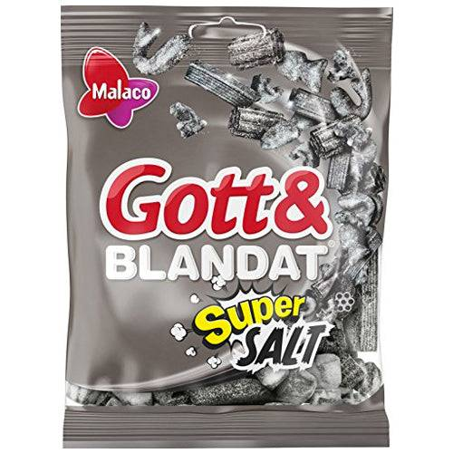 Maxikarkki Malaco Gott & Blandat Supersalt (130g)