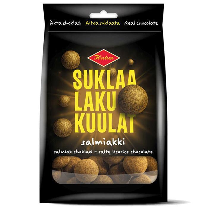 Halva SuklaaLakuKuulat Salmiakki (140g)