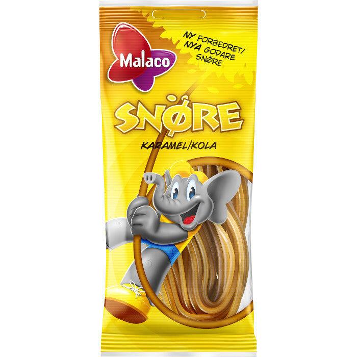 Maxikarkki Makeispussit Malaco Snöre Kola (200g)