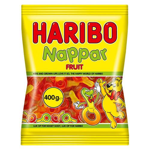 Maxikarkki Makeispussit Haribo Frukt Nappar Hedelmätutit (500g)