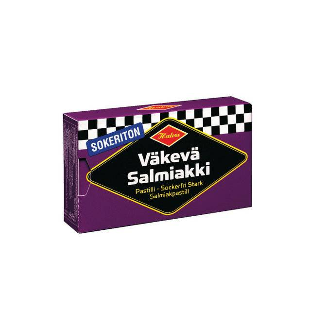 Halva Sokeriton Väkevä Salmiakkipastilli (34g)