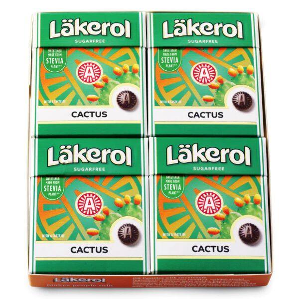 Maxikarkki Makeispussit Läkerol Cactus 4-pack (4 x 25g)