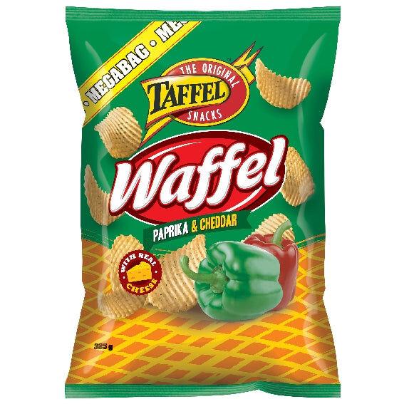 Taffel Waffel Green Paprika & Cheddar (325g)