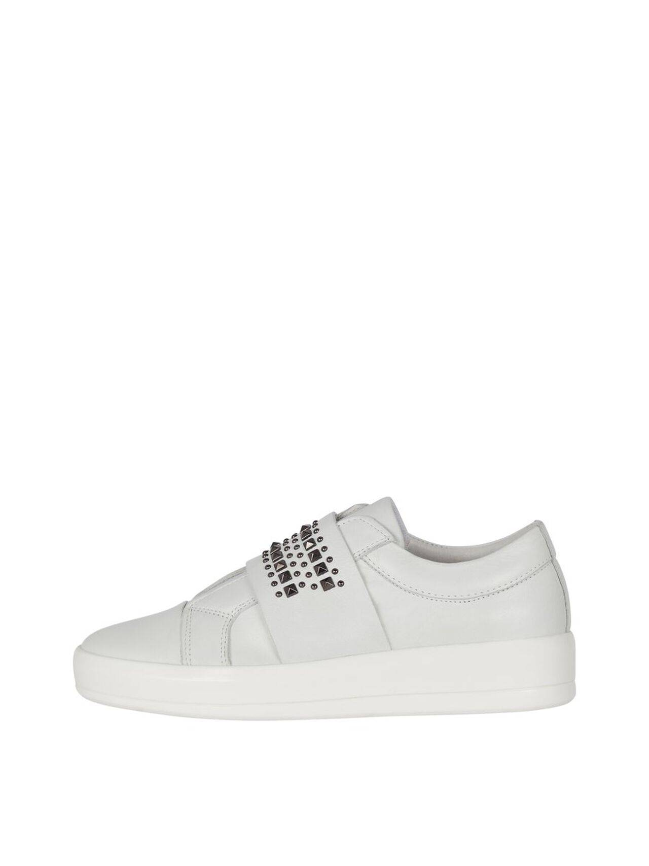 BIANCO Beatrice Leather Slip-on Sneakers Women White