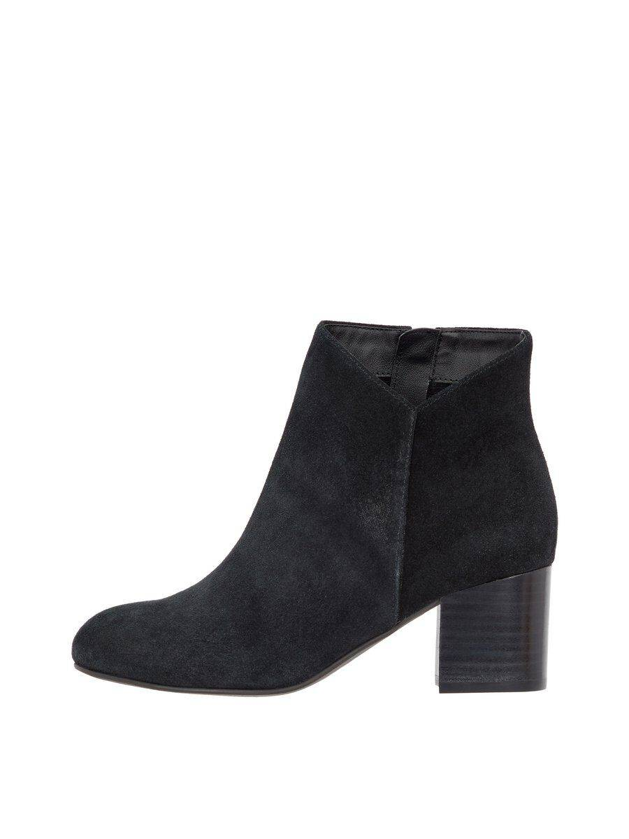 Image of BIANCO Suede V-cut Ankle Boots Women Black