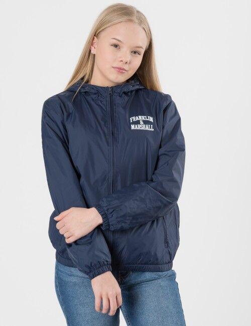 Marshall Franklin & Marshall, Badge Logo Windcheater, Sininen, Takit / Fleecet / Liivit till Tytöt, 12-13 vuotta