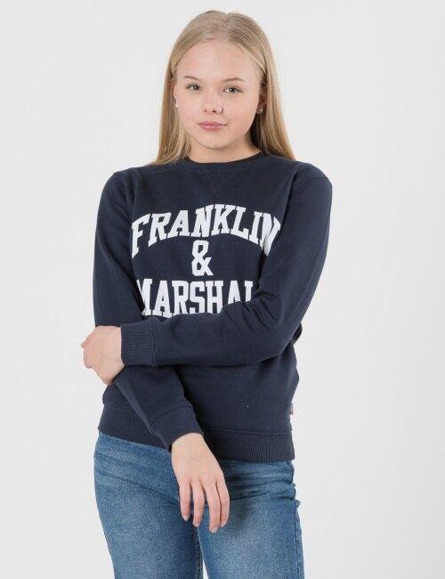 Marshall Franklin & Marshall, F and M Sweater 2, Sininen, NEULEET/NEULETAKIT till Tytöt, 14-15 vuotta