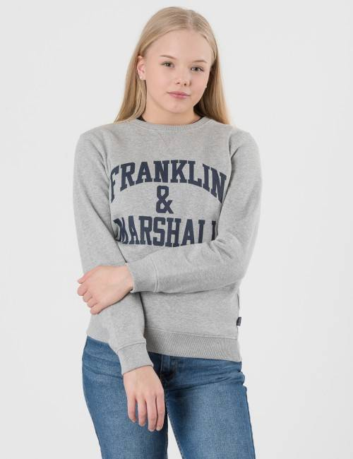 Marshall Franklin & Marshall, F and M Sweater 2, Harmaa, NEULEET/NEULETAKIT till Pojat, 12-13 vuotta