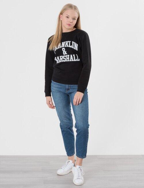 Marshall Franklin & Marshall, F and M Sweater 2, Musta, NEULEET/NEULETAKIT till Tytöt, 8-9 vuotta