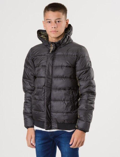 Scotch Shrunk, Padded hood jacket, Musta, Takit / Fleecet / Liivit till Pojat, 10 vuotta
