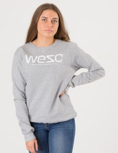 WeSC, Wesc Crewneck, Harmaa, NEULEET/NEULETAKIT till Tytöt, 130 cm