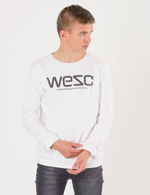 WeSC, Wesc Crewneck, Valkoinen, NEULEET/NEULETAKIT till Pojat, 140