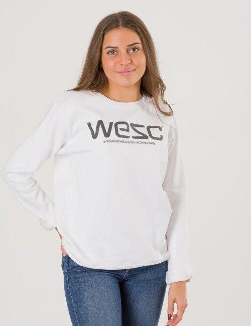 WeSC, Wesc Crewneck, Valkoinen, NEULEET/NEULETAKIT till Tytöt, 160 cm