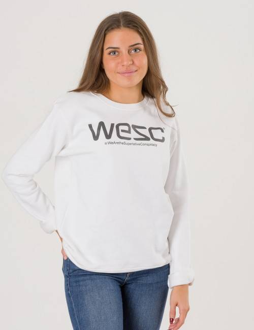 WeSC, Wesc Crewneck, Valkoinen, NEULEET/NEULETAKIT till Tytöt, 170