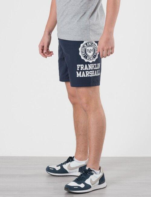 Marshall Franklin & Marshall, Core Logo Swim Shorts, Sininen, UIMA-ASUT/KYLPYTAKIT till Pojat, 8-9 vuotta