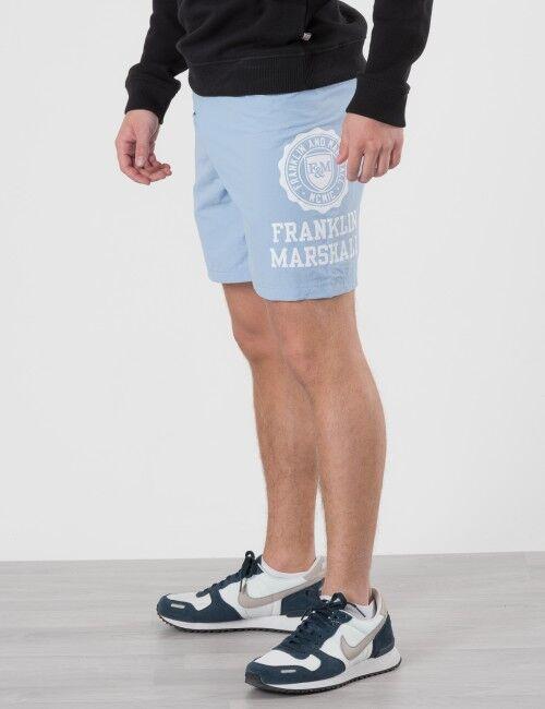 Marshall Franklin & Marshall, Core Logo Swim Shorts, Sininen, UIMA-ASUT/KYLPYTAKIT till Pojat, 14-15 vuotta
