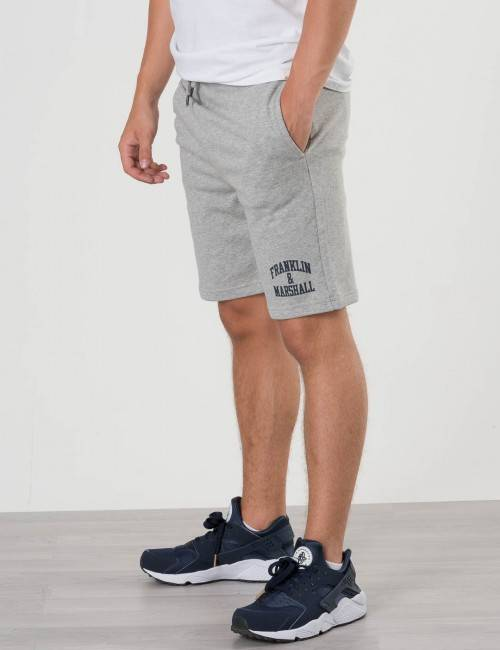 Marshall Franklin & Marshall, Badge Logo Sweat Shorts, Harmaa, Shortsit till Pojat, 15-16 vuotta