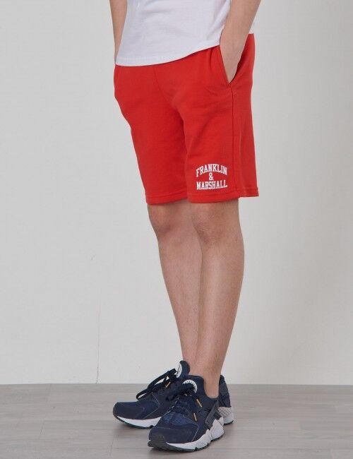 Marshall , Badge Logo Sweat Shorts, Punainen, Shortsit till Pojat, 8-9 vuotta