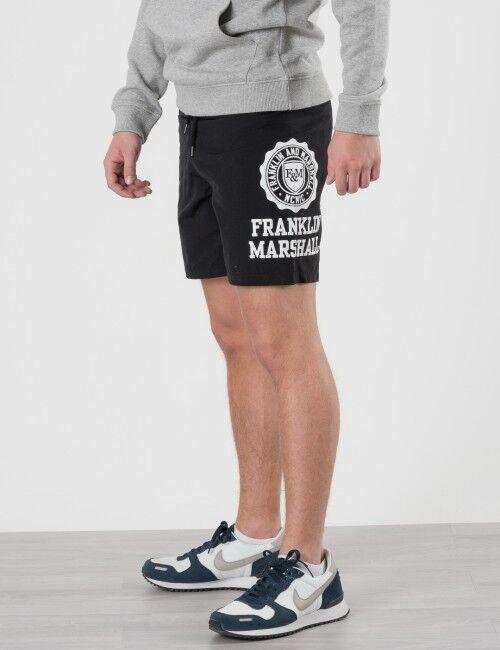 Marshall Franklin & Marshall, Core Logo Swim Shorts, Musta, UIMA-ASUT/KYLPYTAKIT till Pojat, 8-9 vuotta