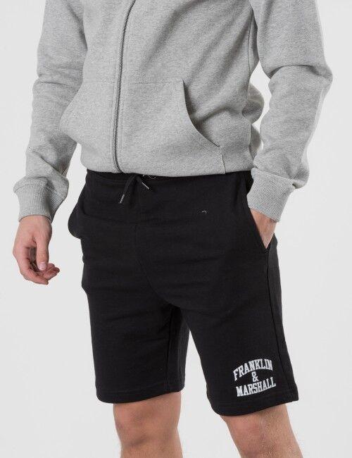 Marshall Franklin & Marshall, Badge Logo Sweat Shorts, Musta, Shortsit till Pojat, 15-16 vuotta