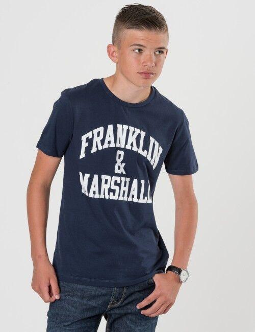 Marshall Franklin & Marshall, F and M CF Logo Tee, Sininen, T-PAIDAT/PAIDAT till Pojat, 10-11 vuotta