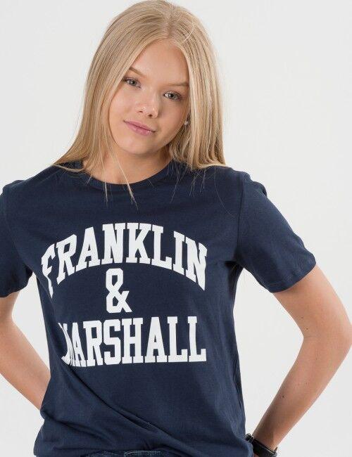 Marshall Franklin & Marshall, F and M CF Logo Tee, Sininen, T-PAIDAT/PAIDAT till Pojat, 14-15 vuotta