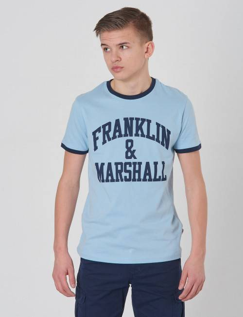 Marshall Franklin & Marshall, Ringer Logo Tee, Sininen, T-PAIDAT/PAIDAT till Pojat, 14-15 vuotta