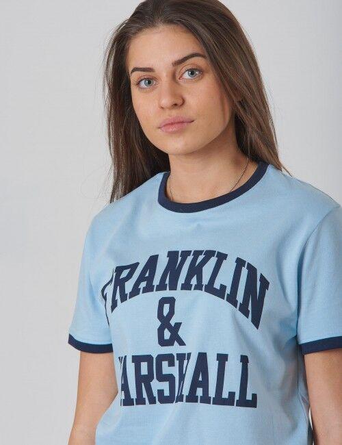Marshall Franklin & Marshall, Ringer Logo Tee, Sininen, T-PAIDAT/PAIDAT till Tytöt, 12-13 vuotta