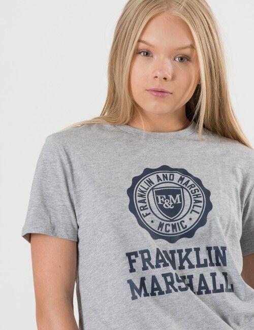 Marshall Franklin & Marshall, F and M Logo Tee, Harmaa, T-PAIDAT/PAIDAT till Tytöt, 14-15 vuotta