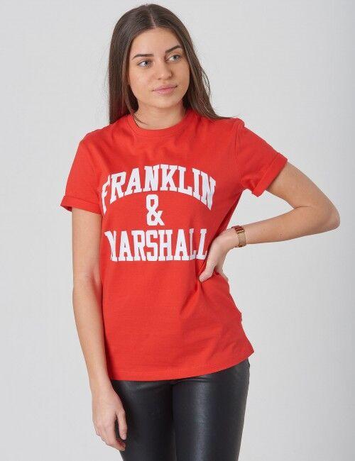 Marshall Franklin & Marshall, F & M CF Logo Tee, Punainen, T-PAIDAT/PAIDAT till Tytöt, 12-13 vuotta