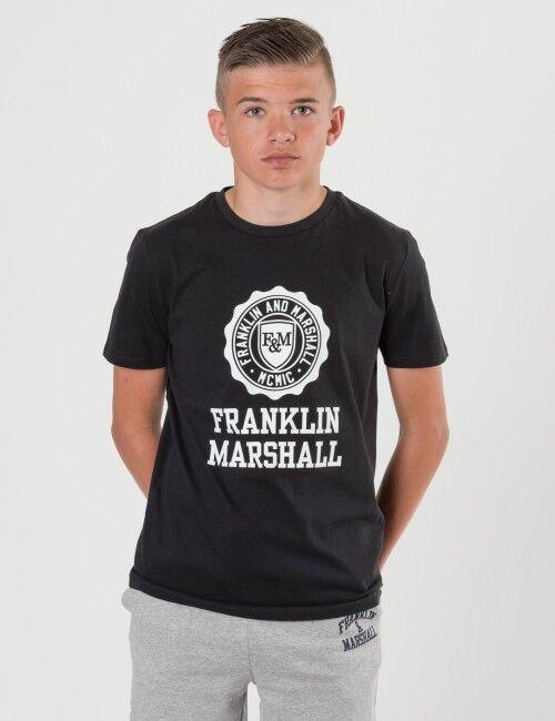 Marshall Franklin & Marshall, F and M Logo Tee, Musta, T-PAIDAT/PAIDAT till Pojat, 8-9 vuotta