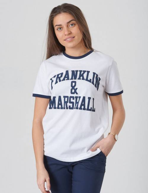 Marshall Franklin & Marshall, Ringer Logo Tee, Valkoinen, T-PAIDAT/PAIDAT till Tytöt, 10-11 vuotta