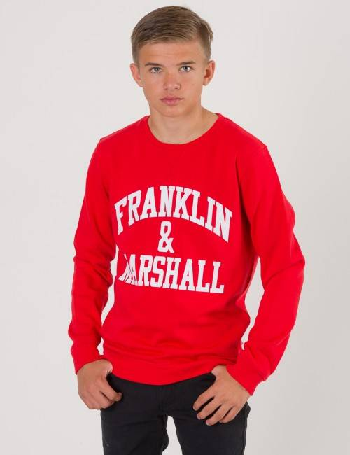 Marshall Franklin & Marshall, F and M Sweater, Punainen, NEULEET/NEULETAKIT till Pojat, 8-9 vuotta