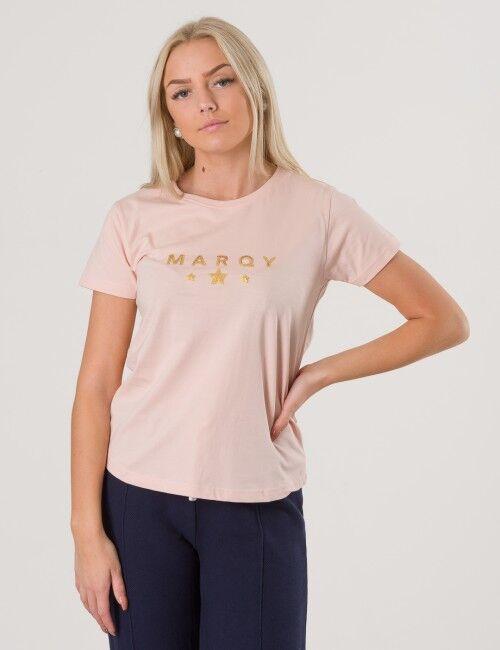 Marqy Girl, AMIRA SS TEE, Vaaleanpunainen, T-PAIDAT/PAIDAT till Tytöt, 170-176