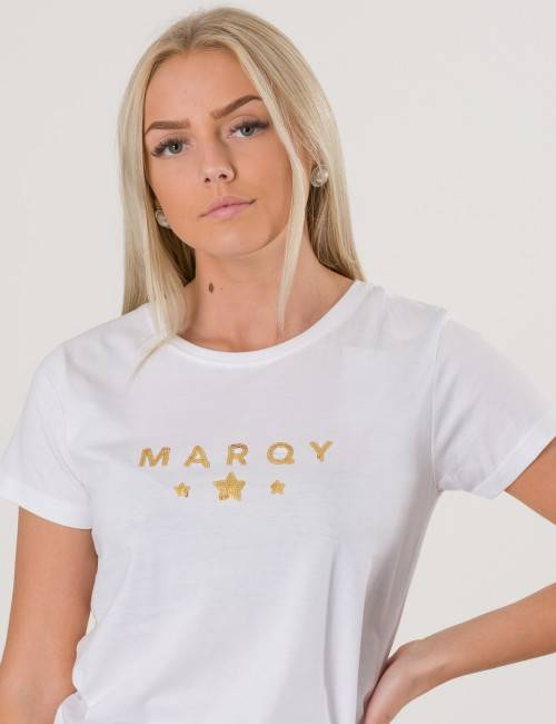 Marqy Girl, AMIRA SS TEE, Valkoinen, T-PAIDAT/PAIDAT till Tytöt, 170-176