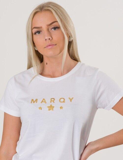 Marqy Girl, AMIRA SS TEE, Valkoinen, T-PAIDAT/PAIDAT till Tytöt, 122-128