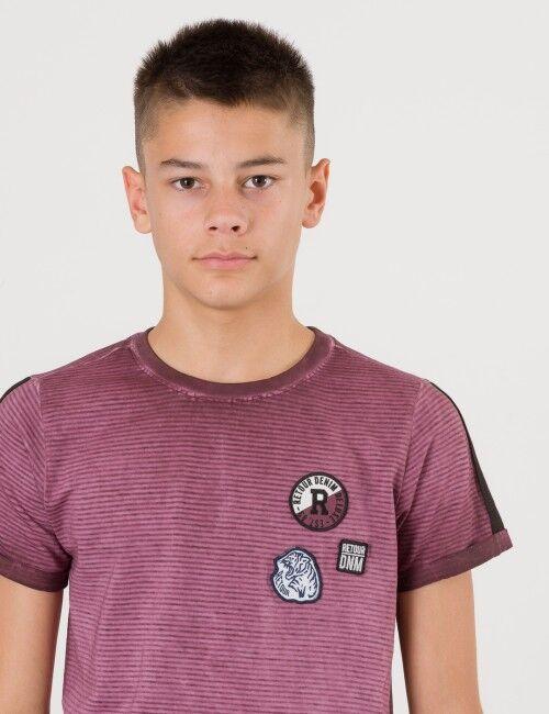 Retour, Melvin T-shirt, Punainen, T-PAIDAT/PAIDAT till Pojat, 7-8 vuotta