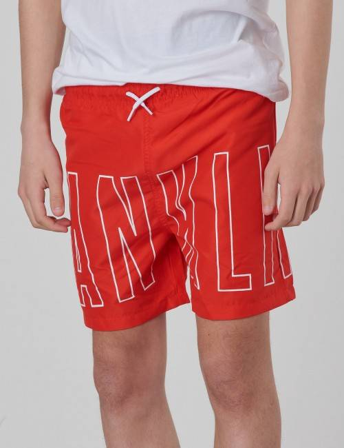 Marshall Franklin & Marshall, Outline Logo Swim, Punainen, UIMA-ASUT/KYLPYTAKIT till Pojat, 12-13 vuotta