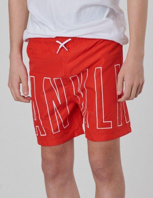 Marshall Franklin & Marshall, Outline Logo Swim, Punainen, UIMA-ASUT/KYLPYTAKIT till Pojat, 10-11 vuotta