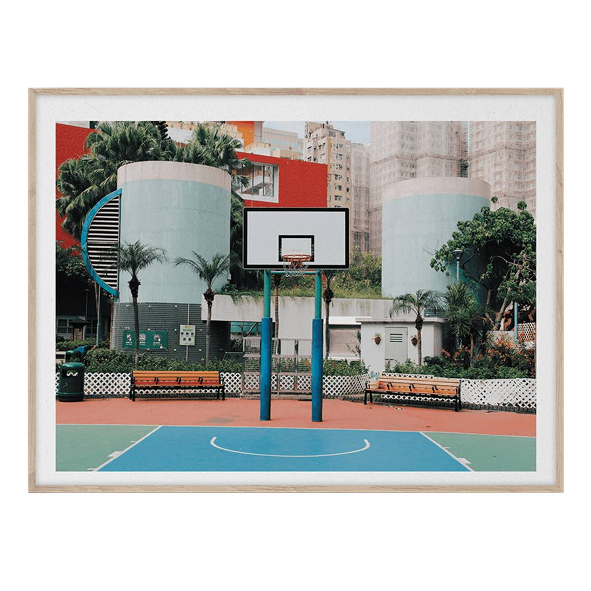 Paper Collective Cities of Basketball 04 (Hong Kong) juliste