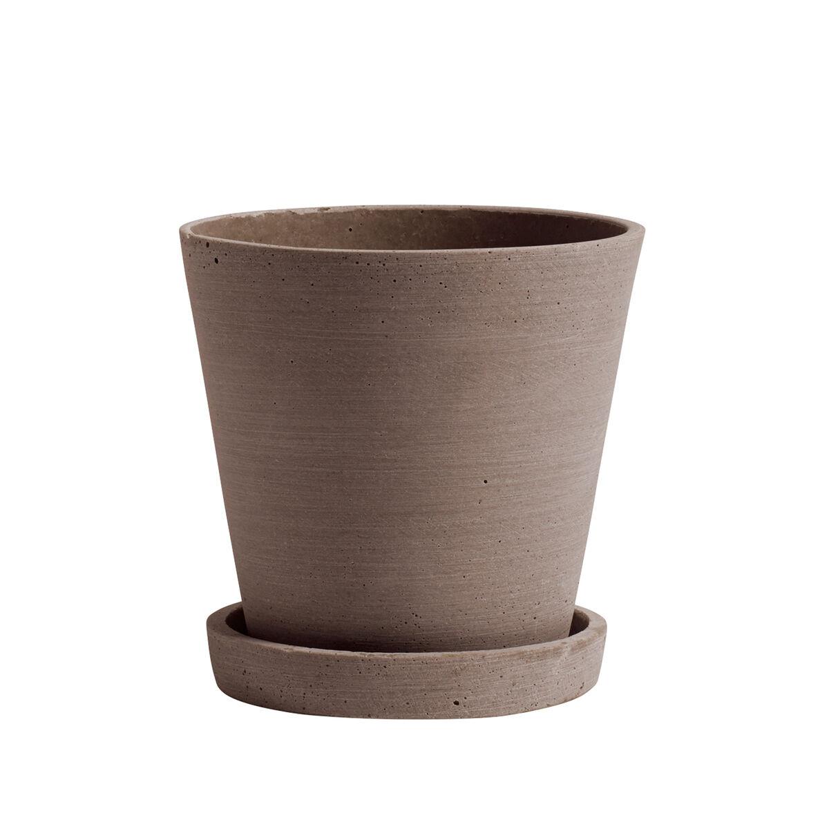 Hay Flowerpot ruukku ja lautanen,  M, terrakotta